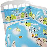 Детское постельное белье 3 предмета Фея, Мишки, голубой