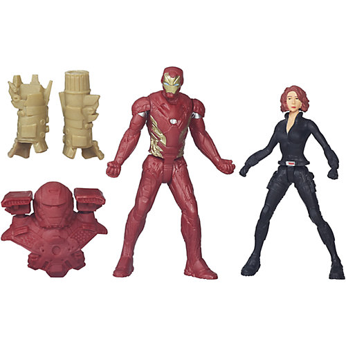 Набор из 2 игровых фигурок Marvel Avengers, Железный Человек и Чёрная Вдова от Hasbro