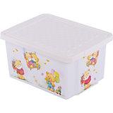 """Ящик для хранения игрушек """"X-BOX"""" Bears 17л, Little Angel, слоновая кость"""