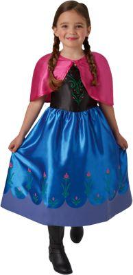 Kostüm Die Eiskönigin Anna Classic blau Gr. 104 Mädchen Kleinkinder