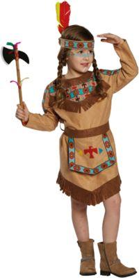 Kostüm Indianerin, 2-tlg. braun Gr. 128 Mädchen Kinder