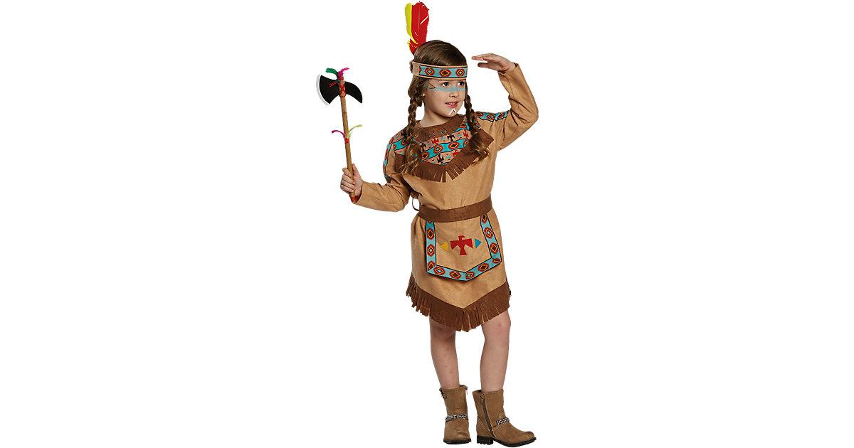 Kostüm Indianerin, 2-tlg. braun Gr. 140 Mädchen Kinder