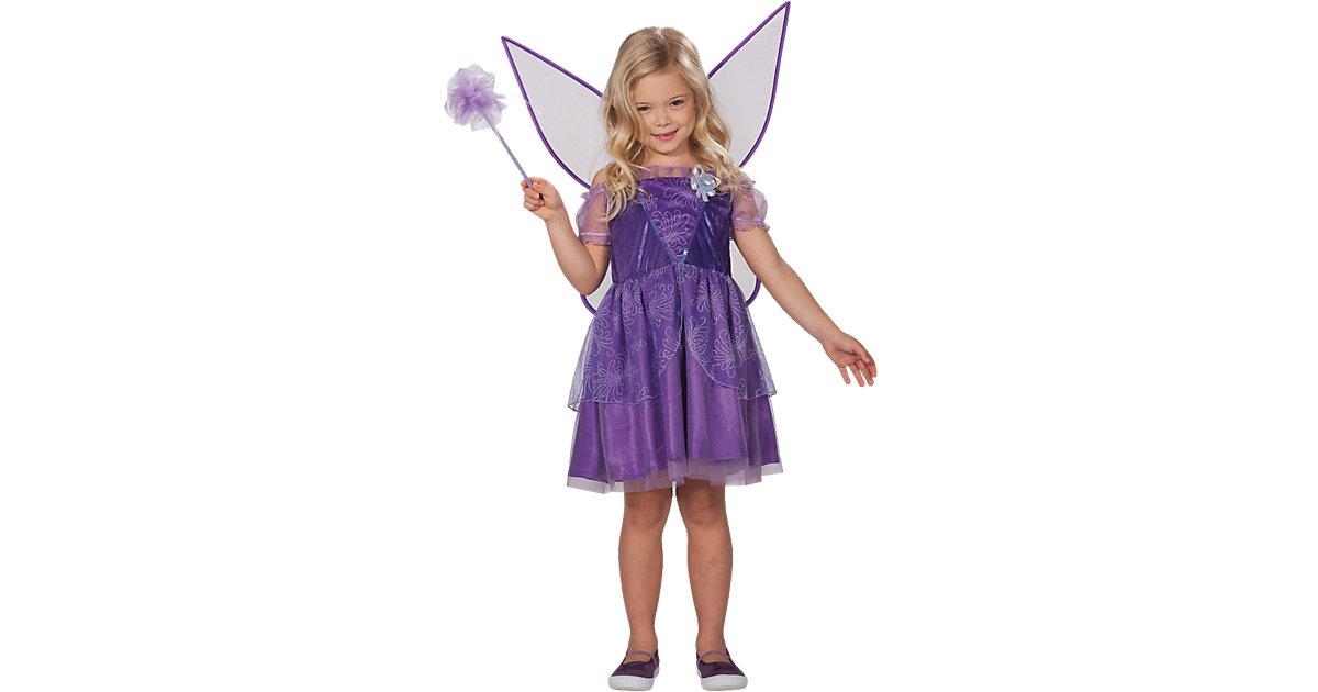Kostüm Fee Viola Gr. 128 Mädchen Kinder