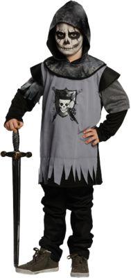 Kostüm Totenkopf Ritter Gr. 140 Jungen Kinder