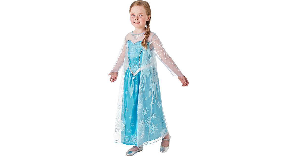 Kostüm Die Eiskönigin Elsa Deluxe blau Gr. 104 Mädchen Kleinkinder