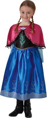 Kostüm Die Eiskönigin Anna Deluxe blau Gr. 104 Mädchen Kleinkinder
