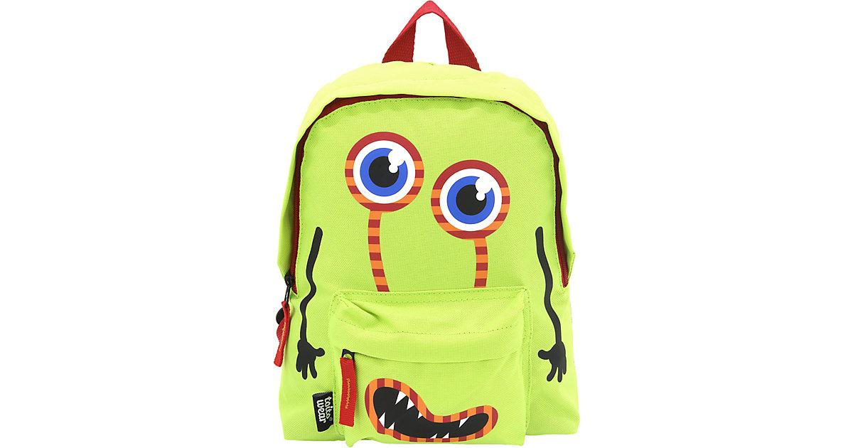 Kinderrucksack Monster grün