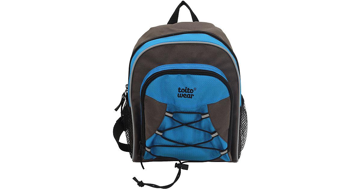 Kinder-Outdoor-Wanderrucksack blau/grau