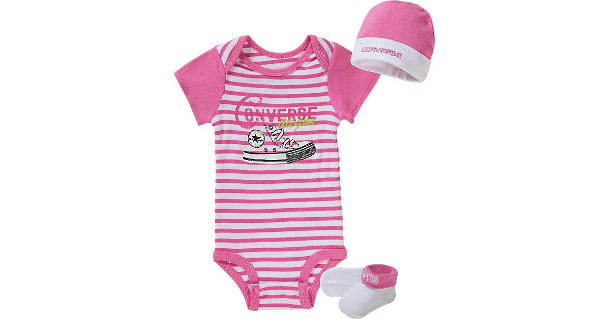CONVERSE · Baby Set Body + Mütze + Socken Gr. 62 Mädchen Kinder