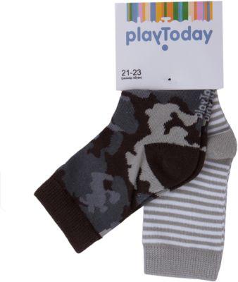 Носки, 2 пары для мальчика PlayToday - черный/серый