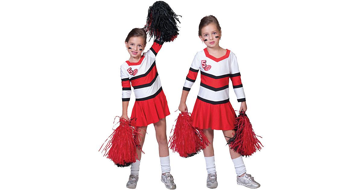Kostüm Cheerleader Gr. 128 Mädchen Kinder