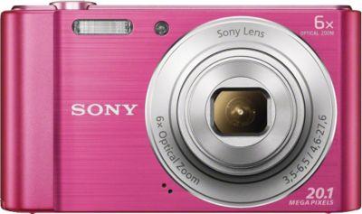 Sony Cyber-shot DSC-W810 Kompakt Kamera, 20,1 Megapixel, 6x opt. Zoom, 6,8 cm (2,7 Zoll) Display pink
