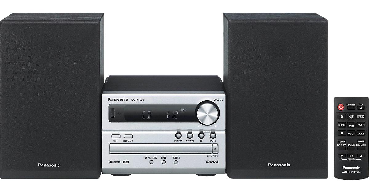 Panasonic SC-PM250EG-S Microanlage, Bluetooth, ...