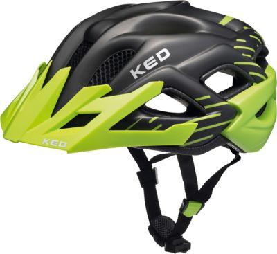 52-59 cm grün schwarz matt, KED Jugendhelm Status Junior grün schwarz matt M