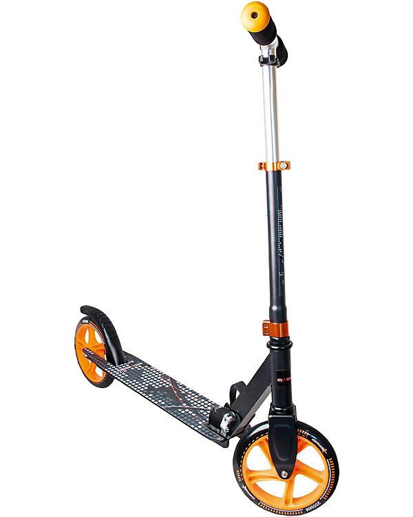 Aluminium Scooter Muuwmi 200, schwarz/Orange, Muuwmi