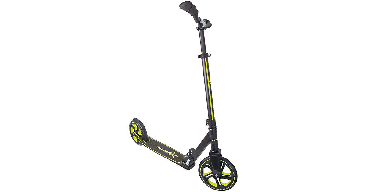Aluminium Scooter Muuwmi Pro 215, schwarz/lime