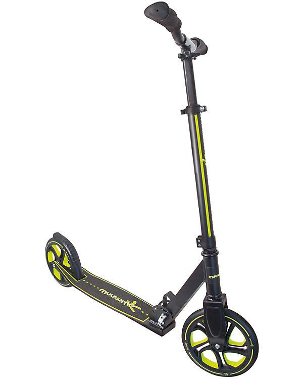Aluminium Scooter Muuwmi Pro 215, schwarz/lime, Muuwmi