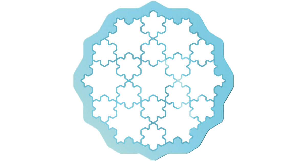 Ausstecher Cookie Puzzle Snow