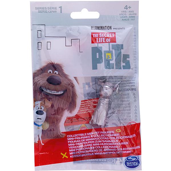 Мини-фигурка Макс в серебристом окрасе (бровь изогнута), Тайная жизнь домашних животных