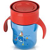 Чашка-поильник с ручками, Philips Avent, 260 мл., синий/красный