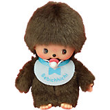 Мягкая игрушка Monchhichi Бэбичичи, мальчик в голубом слюнявчике, 15 см
