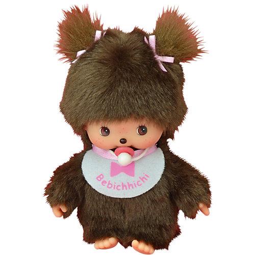 Мягкая игрушка Monchhichi Бэбичичи, девочка в розовом слюнявчике, 15 см от Monchhichi