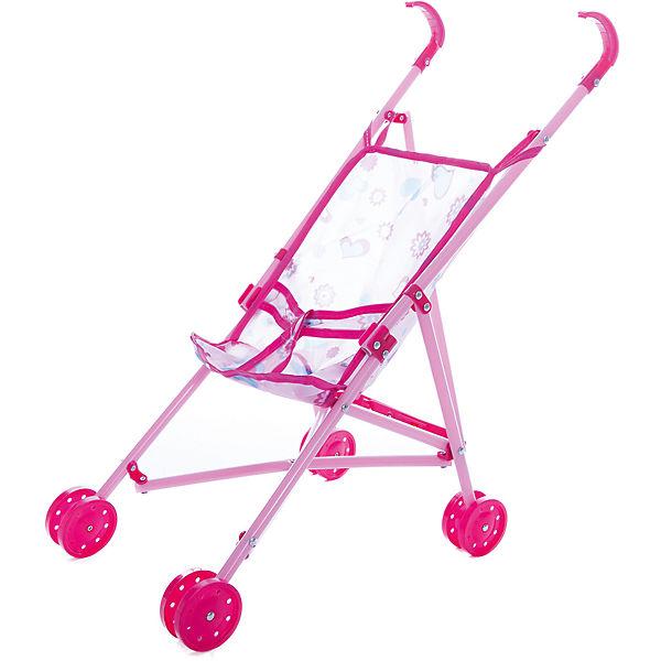 Коляска-трость для куклы 1Toy, розовая