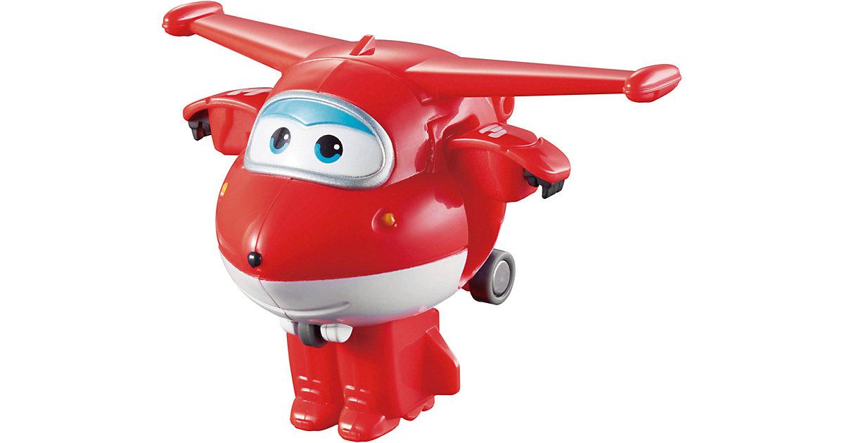 Super Wings Mini Spielzeugfigur Transform-Flugzeug Jett rot