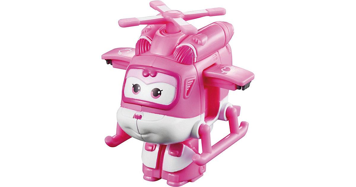 Super Wings Mini Spielzeugfigur Transform-Flugzeug Dizzy rosa