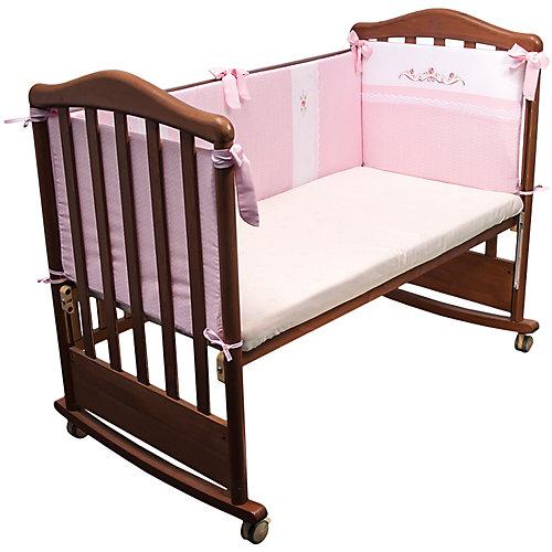 Бортик в кроватку Прованс, Сонный гномик, розовый от Сонный гномик