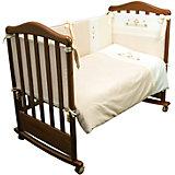 Комплект в кроватку 6 предметов Сонный гномик, Кантри, бежевый