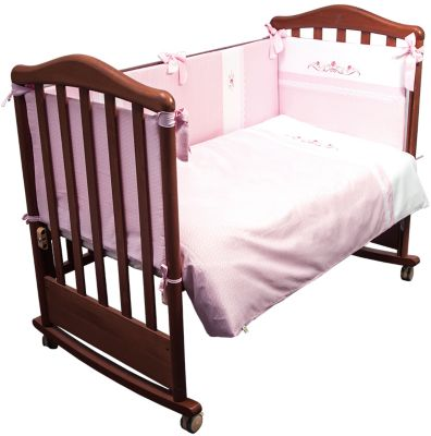 Комплект в кроватку 6 предметов Сонный гномик, Прованс, розовый