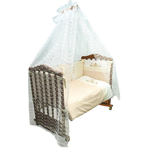 Комплект в кроватку 7 предметов Сонный гномик, Кантри, бежевый от Сонный гномик