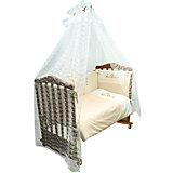 Комплект в кроватку 7 предметов Сонный гномик, Кантри, бежевый