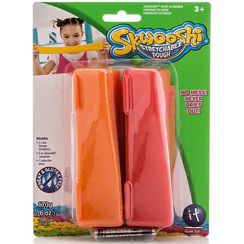 Масса для лепки в контейнерах, 2 цвета от Skwooshi