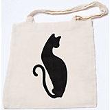 """Стигис-аппликация на эко-сумке """"Черная кошка"""""""