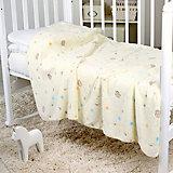 Плед-покрывало Мишки и звезды 100х150 Velsoft 2-стороннее оверлок, Baby Nice