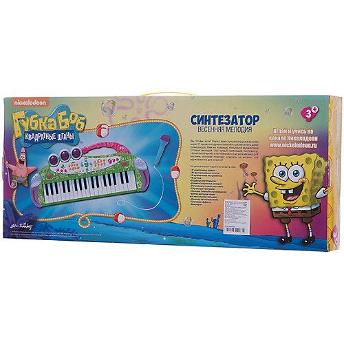 """Игрушка-синтезатор """"Весенняя мелодия"""" , с микрофоном, со светом, Губка Боб от Nickelodeon"""