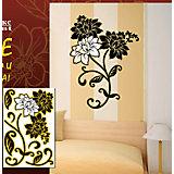 """Декораттивная наклейка на стену """"Цветы"""" (33,5*52 см)"""