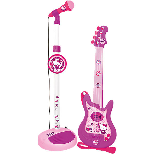 Gitarre und Standmikrofon Hello Kitty, Hello Kitty