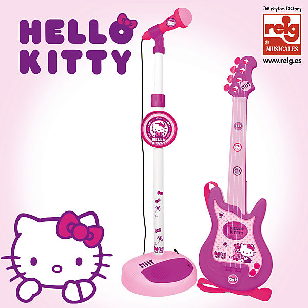 Gitarre und Hello Standmikrofon Hello Kitty, Hello und Kitty efffe1