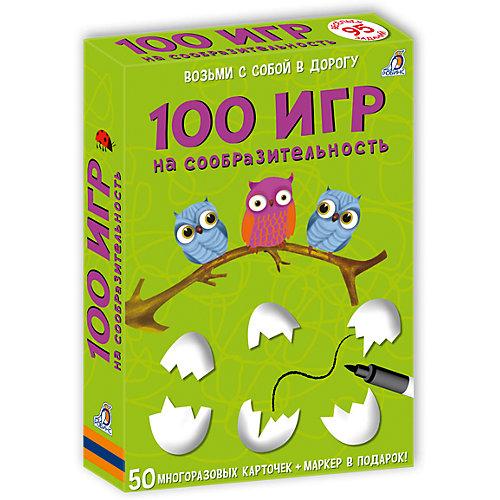 """Карточки """"100 игр на сообразительность"""" от Робинс"""