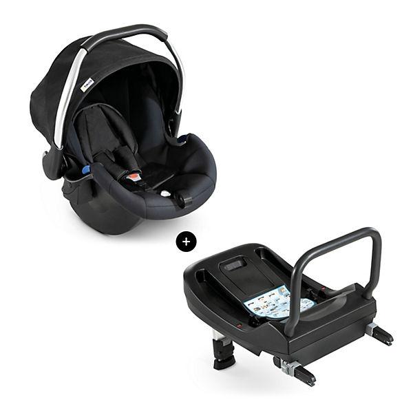 babyschale comfort fix inkl isofix base black hauck. Black Bedroom Furniture Sets. Home Design Ideas