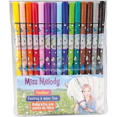 Miss Melody Fineliner Set, 15 Farben