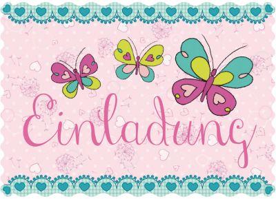 Umschlag Butterflies, 8 Stück TapirElla Einladungskarten Inkl. Umschlag  Butterflies, 8 Stück 2