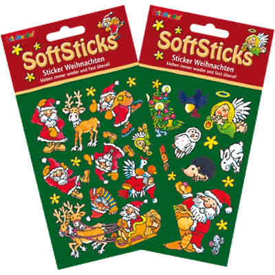 Softsticker Weihnachten, 2er Set
