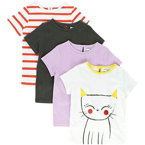 Marks & Spencer T-Shirts 4er-Pack Gr. 98/104 Mädchen Kleinkinder Sale Angebote Döbern