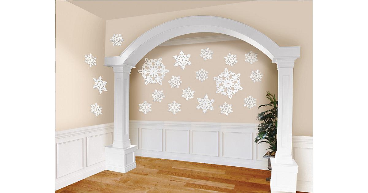 Wanddekoration Glitzersterne, 20 Stück