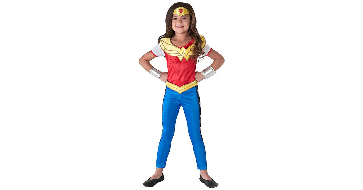 Kostüm Wonder Woman, 4-tlg. blau/rot Gr. 128/140 Mädchen Kinder