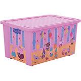 "Ящик для хранения игрушек ""X-BOX"" ""Свинка Пеппа"" 57л, Little Angel, розовый"